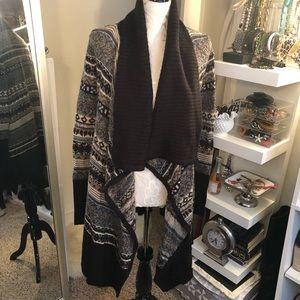 Kenzie Black Open Front Cardigan Sweater